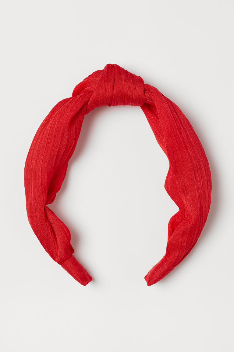 Alice band with a knot - Red - Ladies | H&M CN