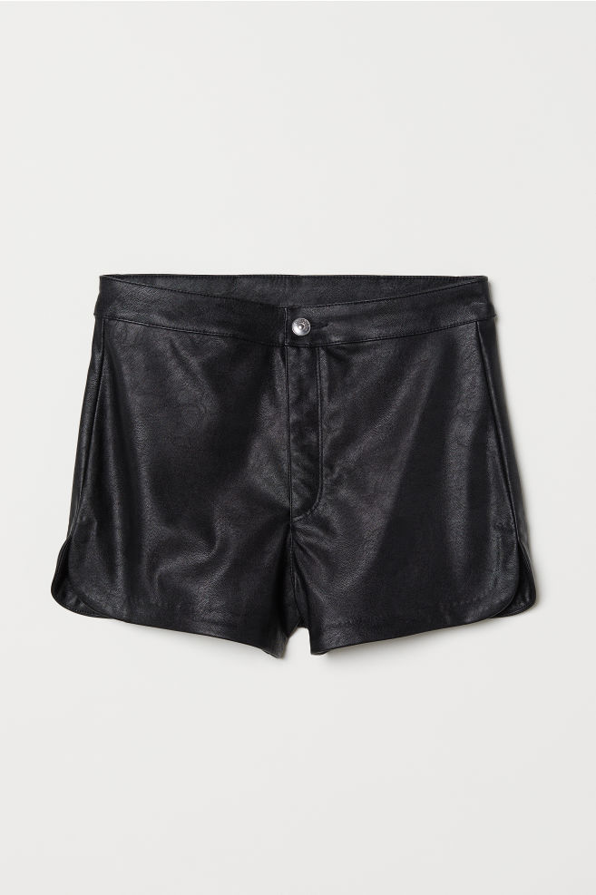 5d23035b2 Pantalón corto piel sintética - Negro -