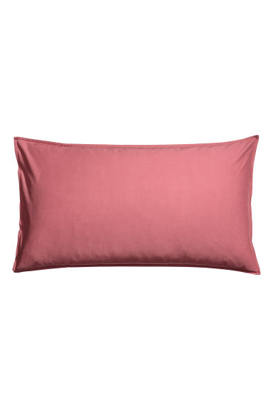 Federa in cotone lavato - Rosa scuro - HOME | H&M IT