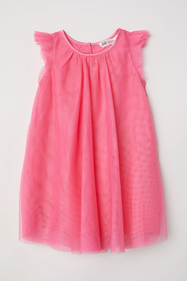 Tulle dress with glitter - Hot pink - Kids | H&M