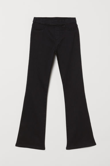 Flared twill trousers - Black - Kids | H&M