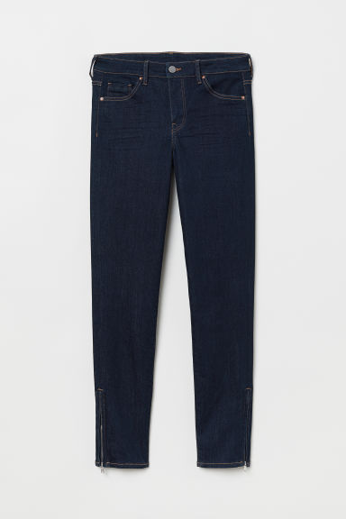Skinny Regular Ankle Jeans - Dark blue - Ladies | H&M CN