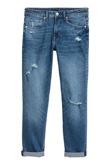 Girlfriend Regular Jeans - Denimblauw -  | H&M BE