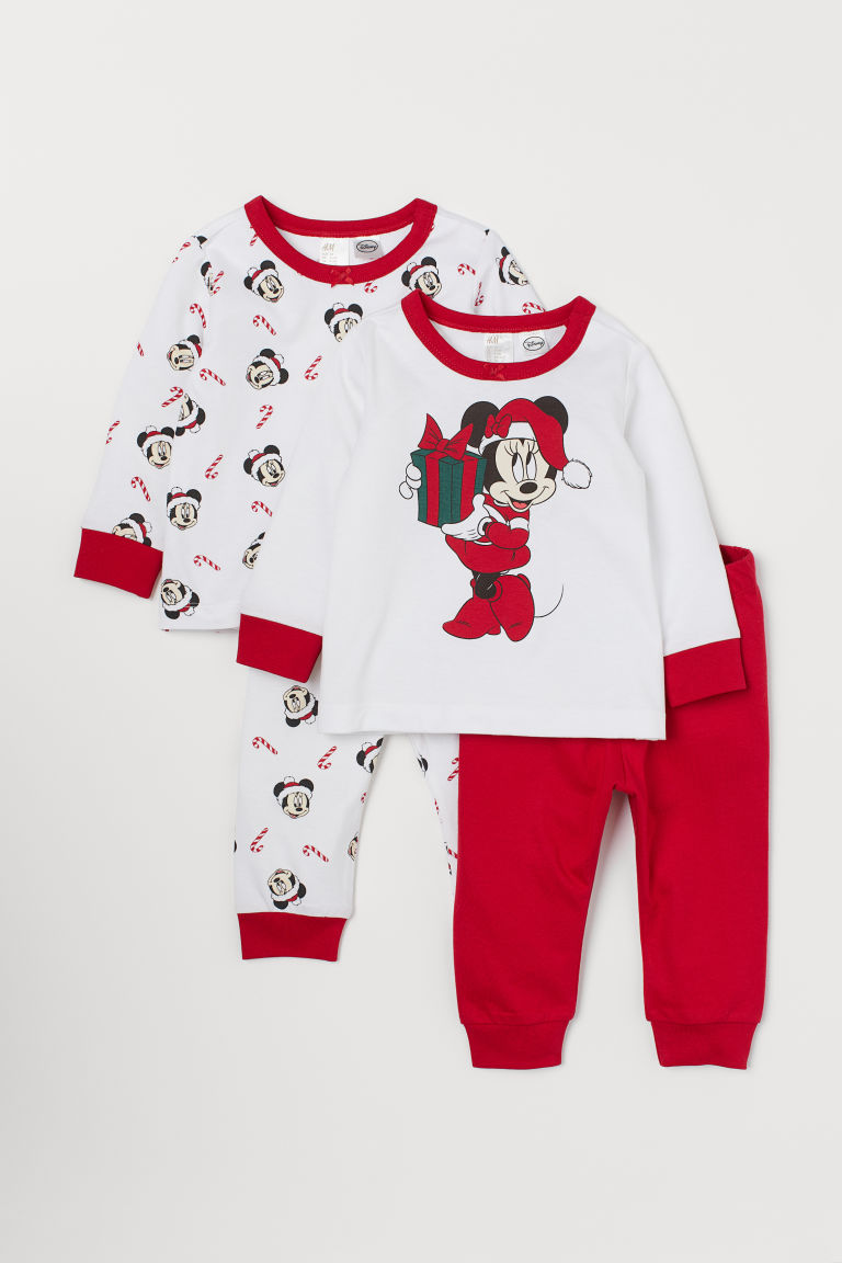 2-pack jersey pyjamas - Red/Minnie Mouse - Kids | H&M IN