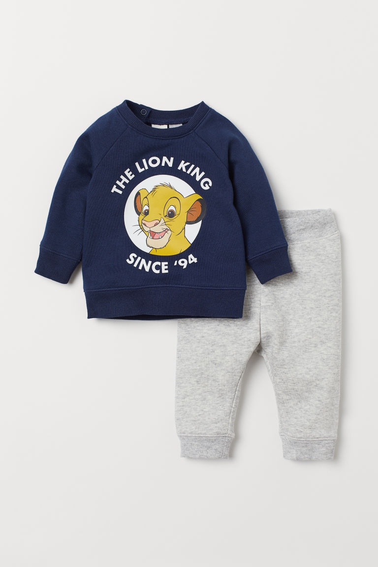 Sweatshirt and Joggers - Dark blue/Lion King -  | H&M US