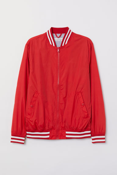 Nylon baseballjas - Rood - HEREN | H&M BE