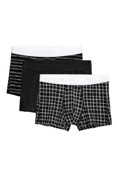3-pack trunks - Black/Multicoloured - Men | H&M