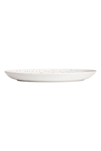 Porcelain serving dish - White/Gold-coloured spots - Home All | H&M GB