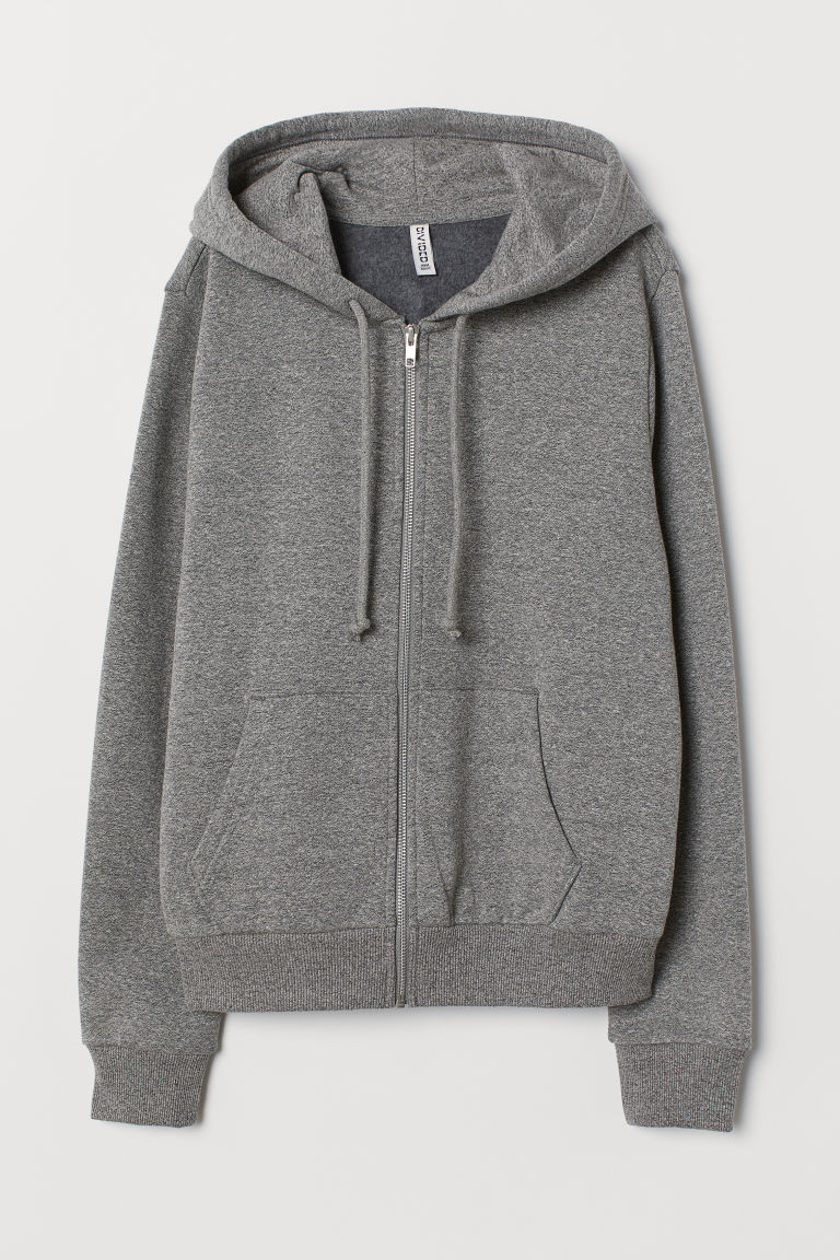 Hooded Jacket - Gray melange - Ladies | H&M US