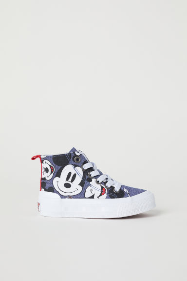 Hi-top trainers - Dark blue/Mickey Mouse - Kids | H&M