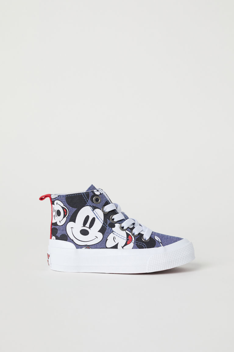 Hi-top trainers - Dark blue/Mickey Mouse -  | H&M CN