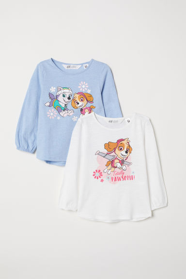 2-pack jersey tops - Light blue/Paw Patrol - Kids | H&M