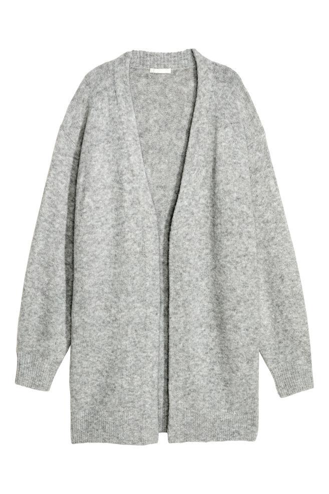 75ac8810 Strikket cardigan i ullmiks - Lys grå - DAME | H&M ...