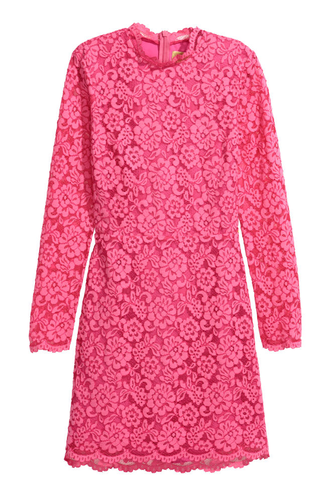4342744e365596 Korte kanten jurk - Roze - DAMES