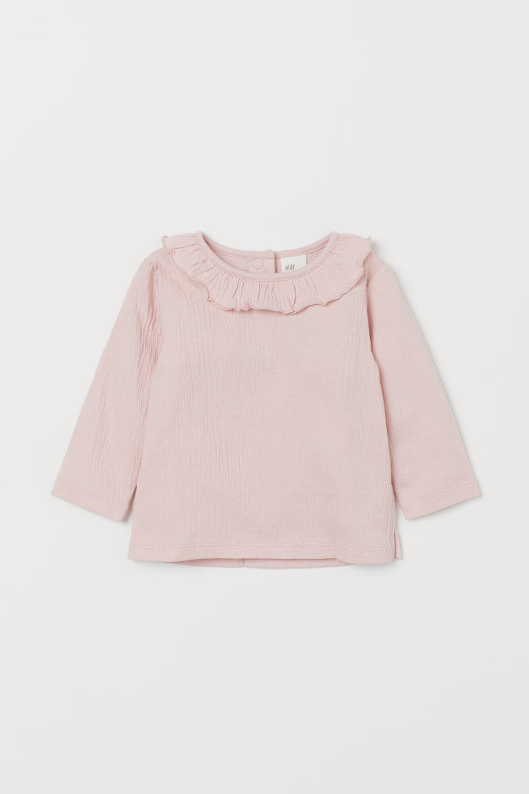 Blouse with Ruffled Collar - Light pink - Kids | H&M CA