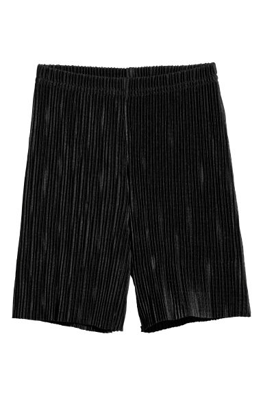 Pleated trousers - Black -  | H&M