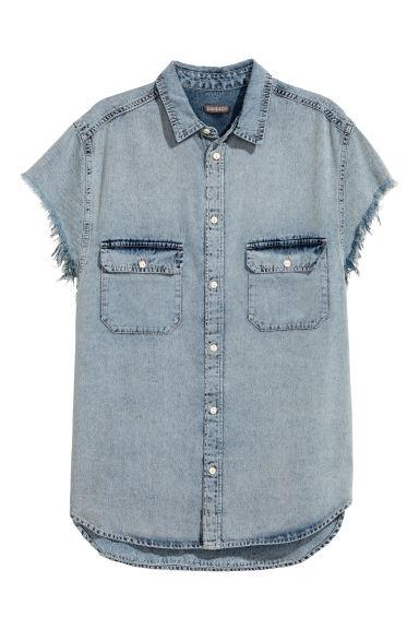 cheap for discount 74370 c6271 Camicia di jeans maniche corte
