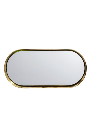 Oval tray - Gold-coloured - Home All | H&M CN