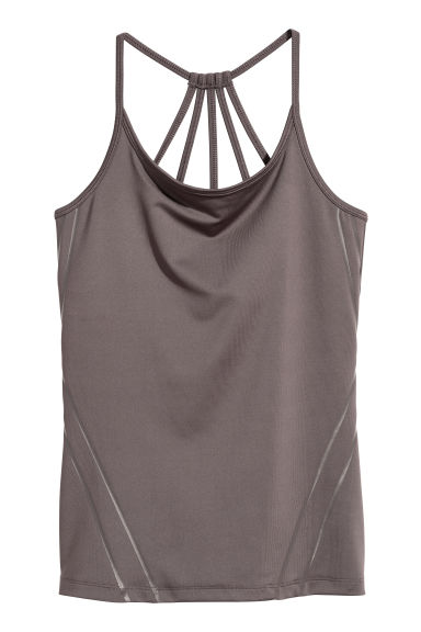 Sports top - Dark mole - Ladies | H&M
