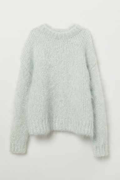 Knit Mohair-blend Sweater - Light turquoise - Ladies | H&M US