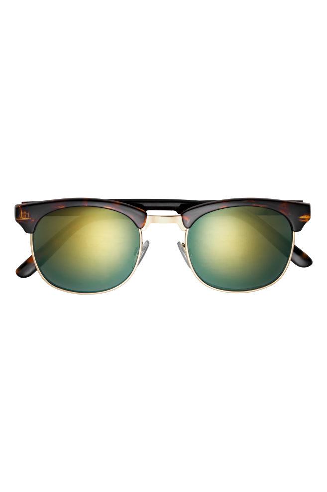 e43f656248 ... Lunettes de soleil - Motif écaille de tortue/vert - HOMME | H&M ...
