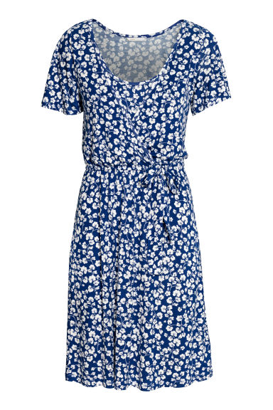 MAMA Nursing dress - Blue/White patterned - Ladies | H&M CN