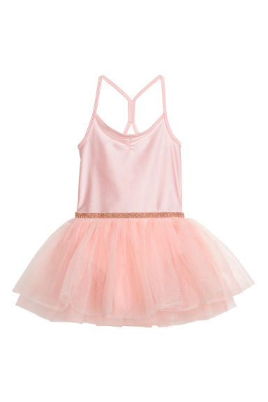 Dance dress with a tulle skirt - Powder pink - Kids | H&M