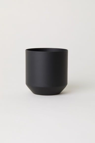 Metal mini plant pot - Black - Home All | H&M GB