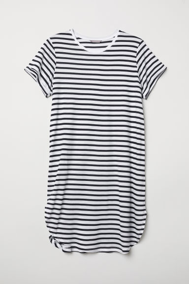 H&M+ Tunica in jersey - Bianco/blu scuro righe - DONNA | H&M IT