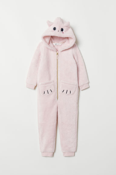 Pile romper suit - Pink/Cat - Kids | H&M