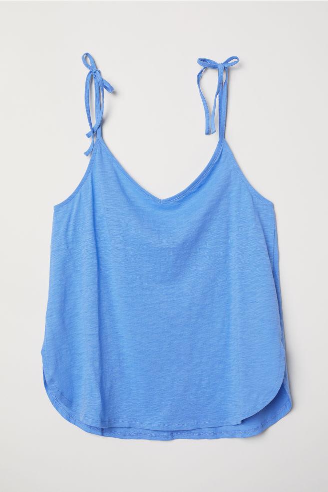 e151153f848ce V-neck Camisole Top - Blue - Ladies
