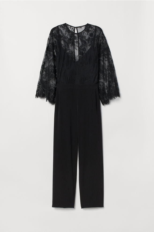 7feb1af174a545 H&M+ Jumpsuit mit Spitze - Schwarz - Ladies | H&M ...