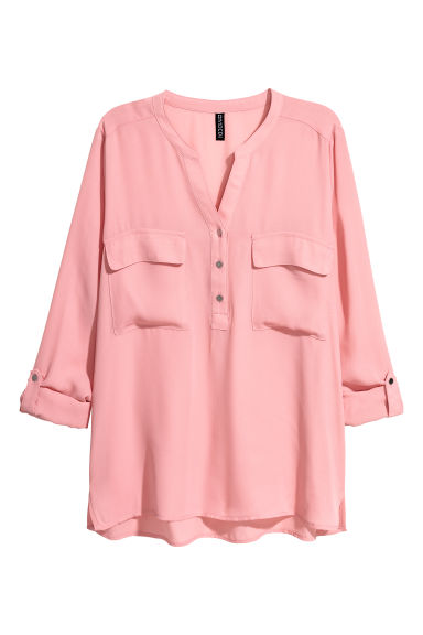 V-neck blouse - Vintage pink - Ladies | H&M