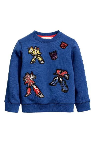 Sweat avec impression - Bleu/Transformers -  | H&M CH