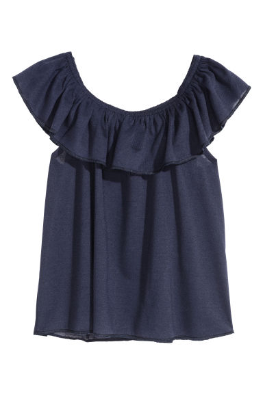 Bohemien top - Donkerblauw -  | H&M BE