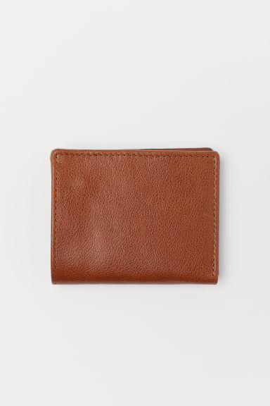 Leather wallet - Brown - Men | H&M