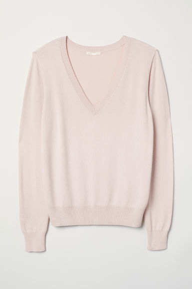 Fine-knit jumper - Light pink - Ladies | H&M GB