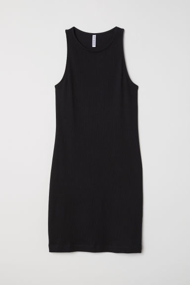 Sleeveless jersey dress - Black - Ladies | H&M GB