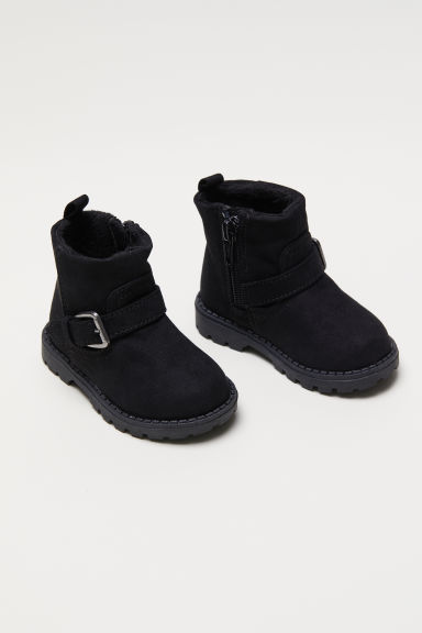 Boots with buckles - Black - Kids | H&M CN