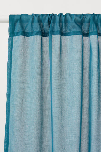 2-pack curtain lengths - Dark turquoise - Home All | H&M CN