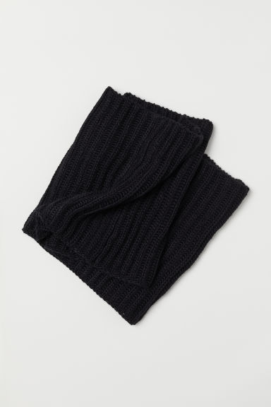 Wool-blend tube scarf - Black - Men | H&M