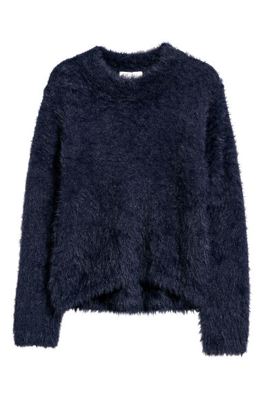 Fluffy jumper - Dark blue -  | H&M CN