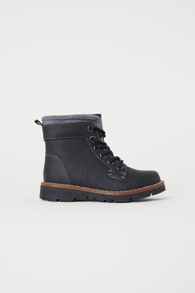 Fleece-lined boots - Black -  | H&M