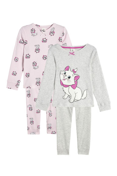 2-pack pyjamas - Light pink/Aristocats - Kids | H&M