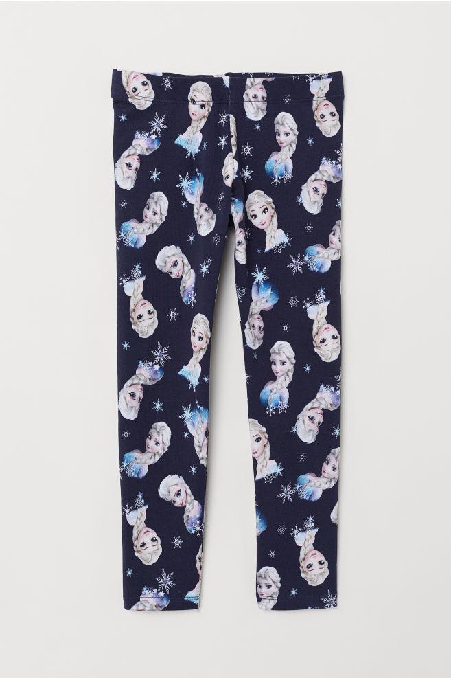 Kuviolliset leggingsit - Tummansininen/Frozen - Kids | H&M FI 3