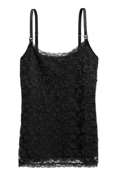 MAMA Lace nursing top - Black - Ladies | H&M IE