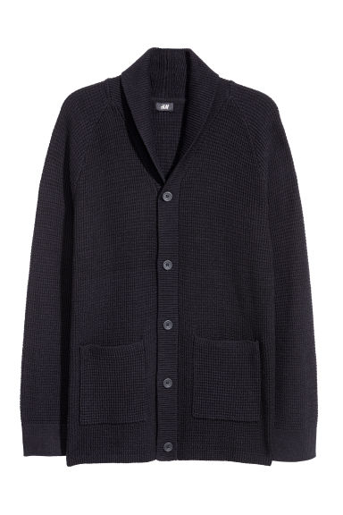 Shawl-collar cardigan - Dark blue -  | H&M GB