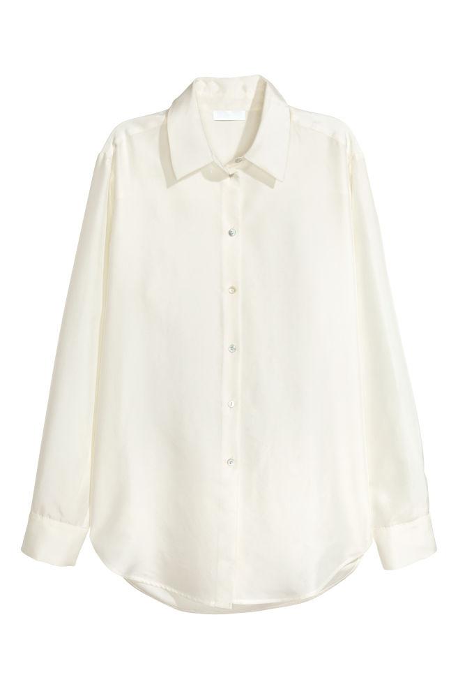 e2d68c8b334 Hedvábná košile - Přírodní bílá - ŽENY