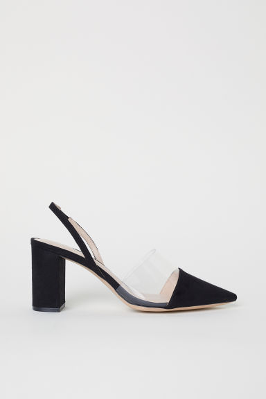 Block-heel slingbacks - Black - Ladies | H&M CN