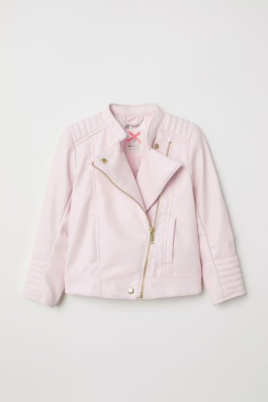 Biker jacket - Light pink - Kids | H&M CN
